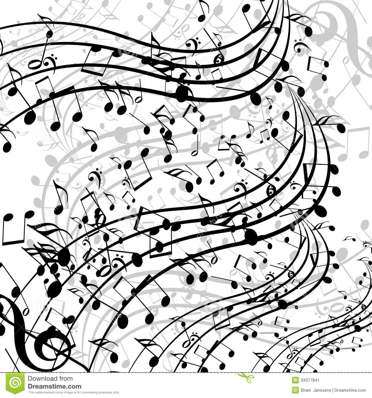Music Notes Stock Illustration Of Flow