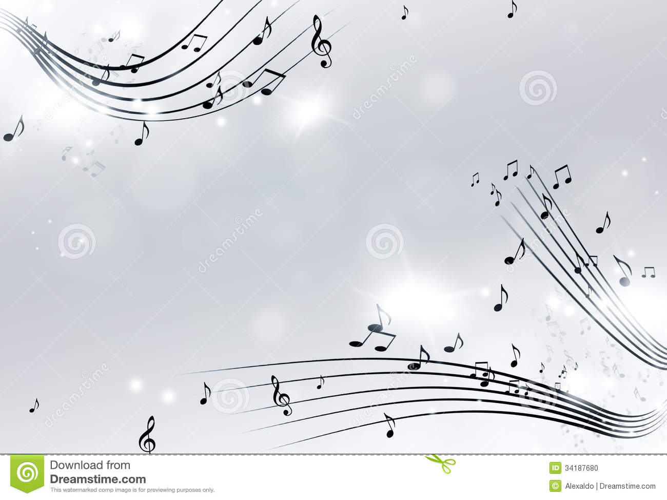 Black And White Music Notes Background Music Notes Black and White