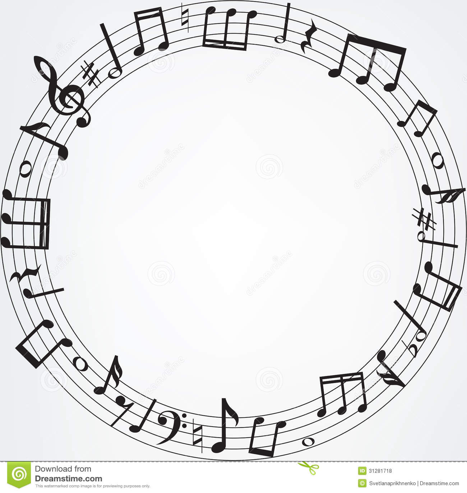 Music Note Corner Bord...
