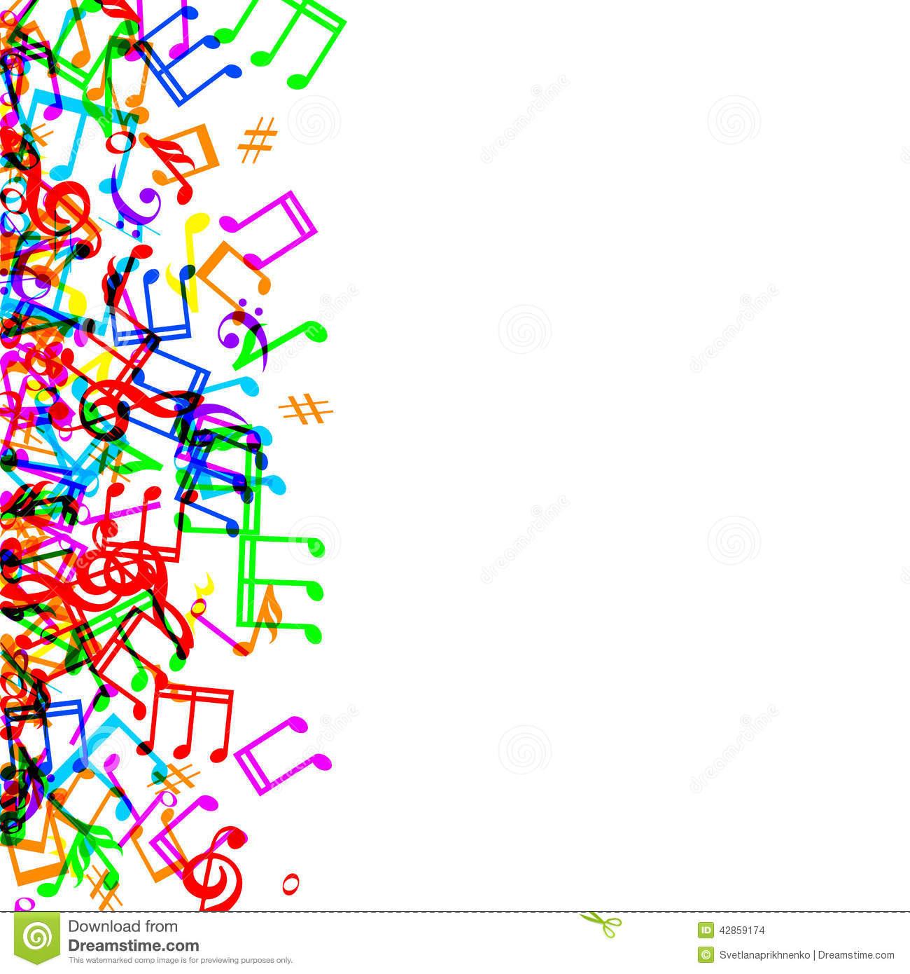 Music vector art colorful wallpaper free download png - Royalty Free Vector Background Border Colorful Frame Music White Style Sheet Illustration