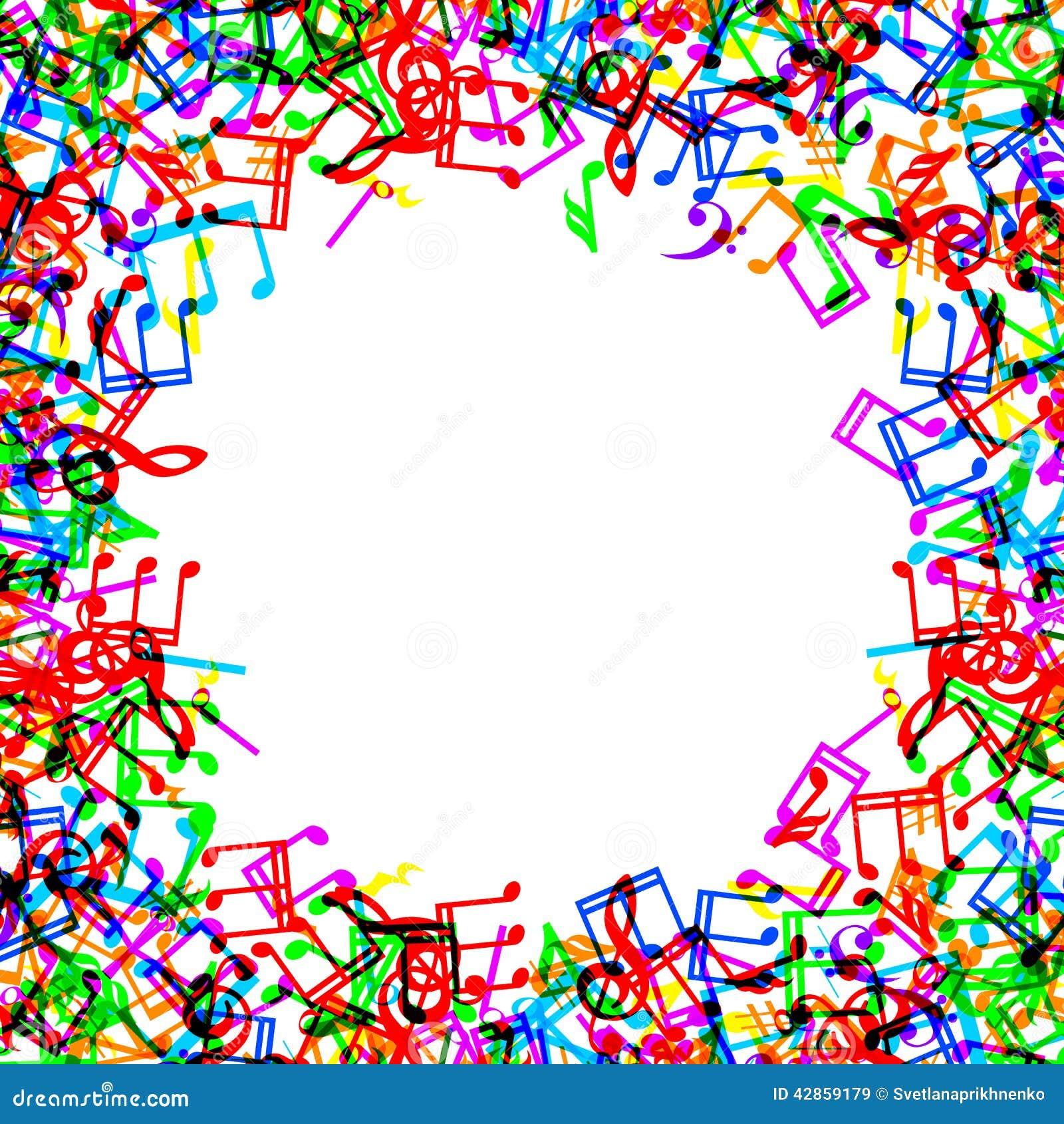 music notes border frame illustration 42859179 megapixl - Music Note Picture Frame