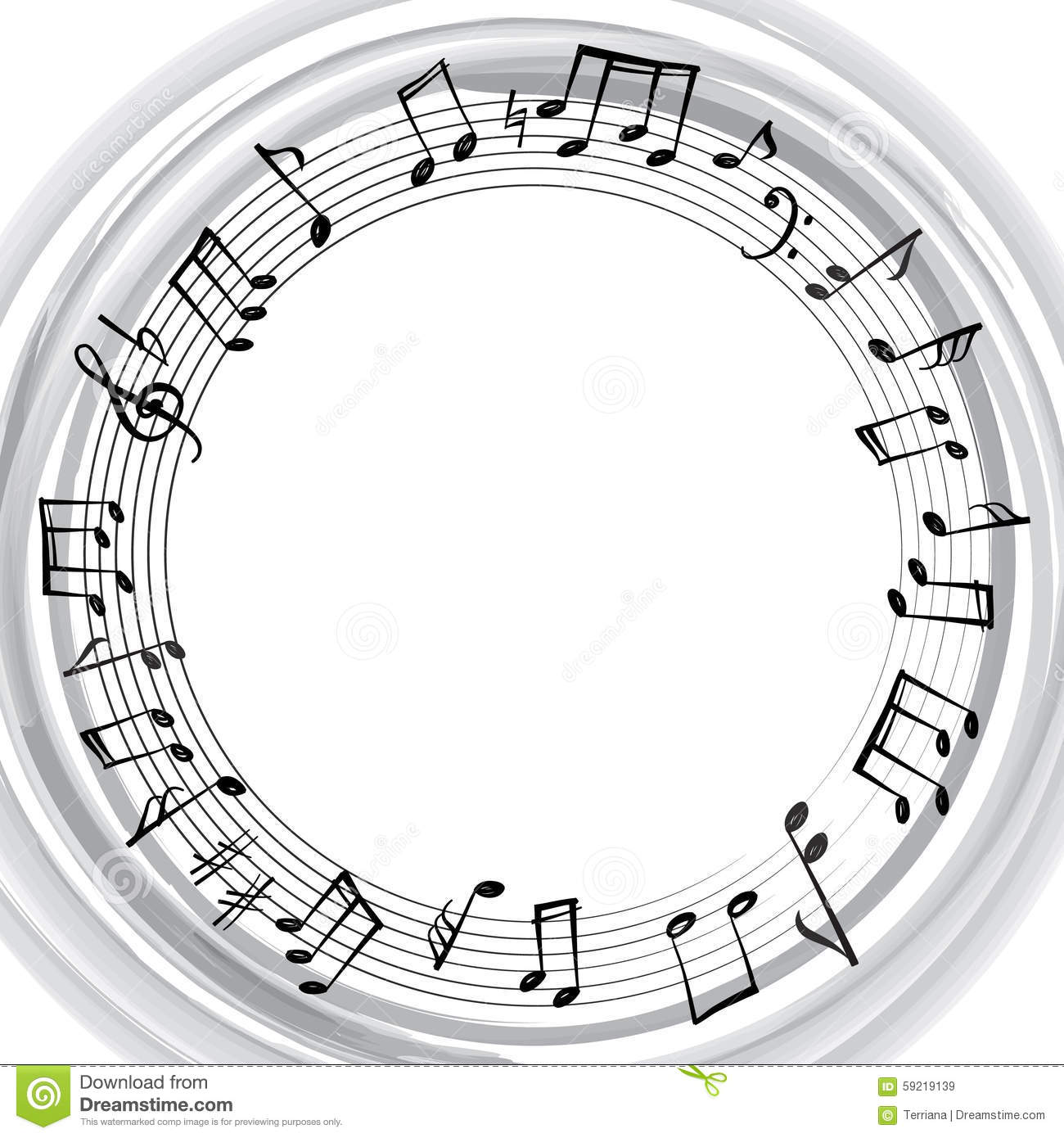 music notes border musical background music round shape frame stock illustration image 59219139. Black Bedroom Furniture Sets. Home Design Ideas