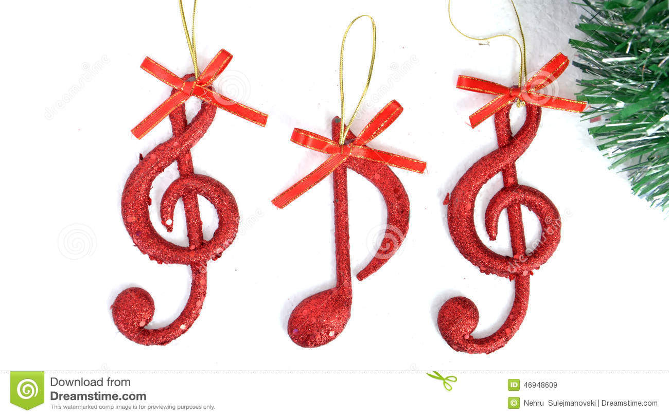 Music notes christmas scene decoration stock image for Christmas house music