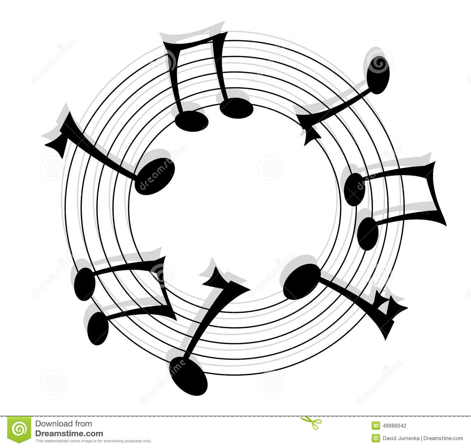 music notes stock illustration image 48986042