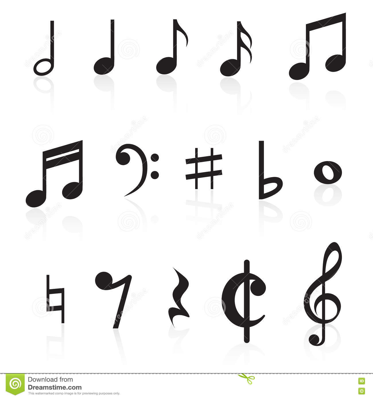 Music notes collection stock vector illustration of quarter music notes collection biocorpaavc Images