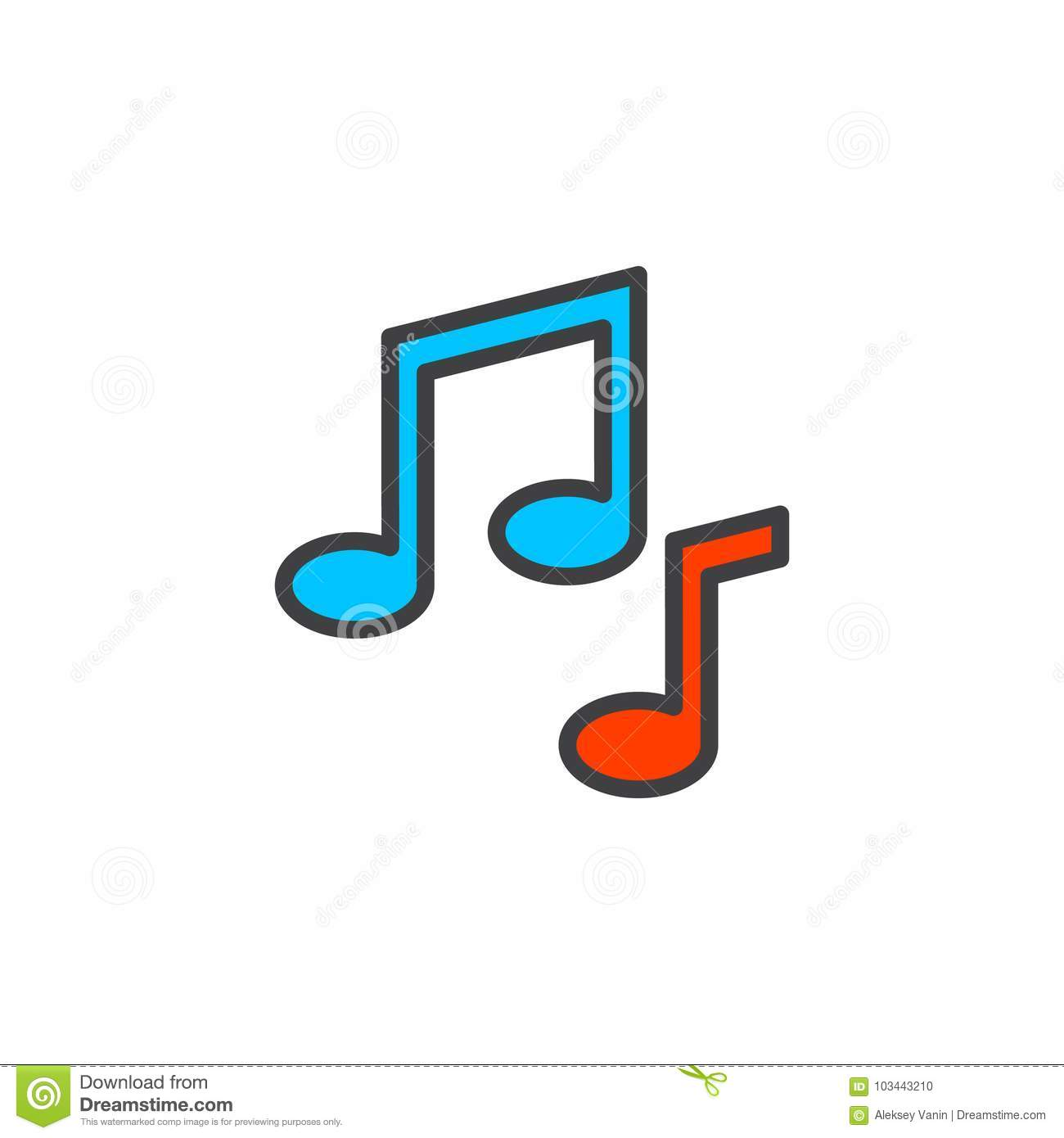 music notes filled outline icon stock vector illustration of rh dreamstime com Transparent Computer Vector Laptop Vector