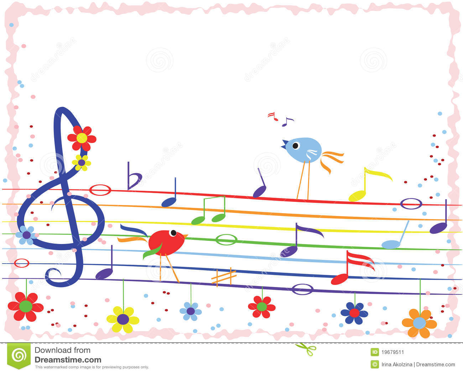 music notes frame stock image image 19679511 free clipart music notes symbols Cartoon Music Notes and Symbols
