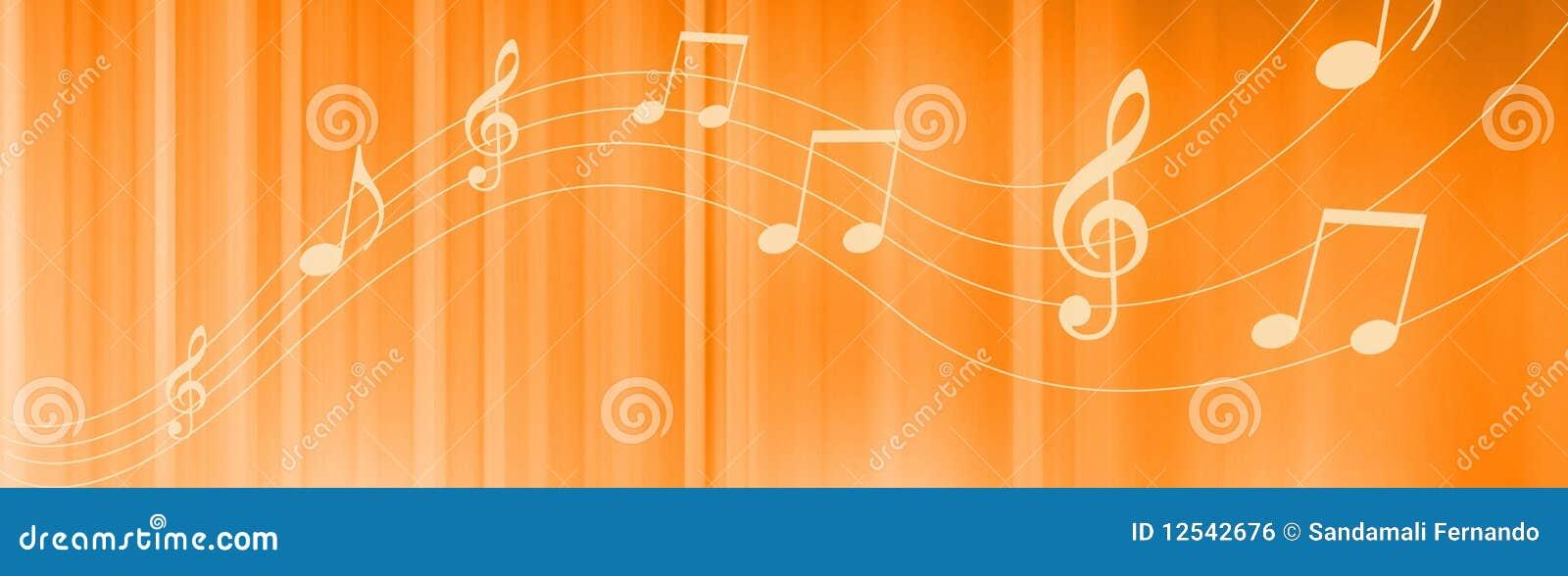 Music Notes Header Royalty Free Stock Image
