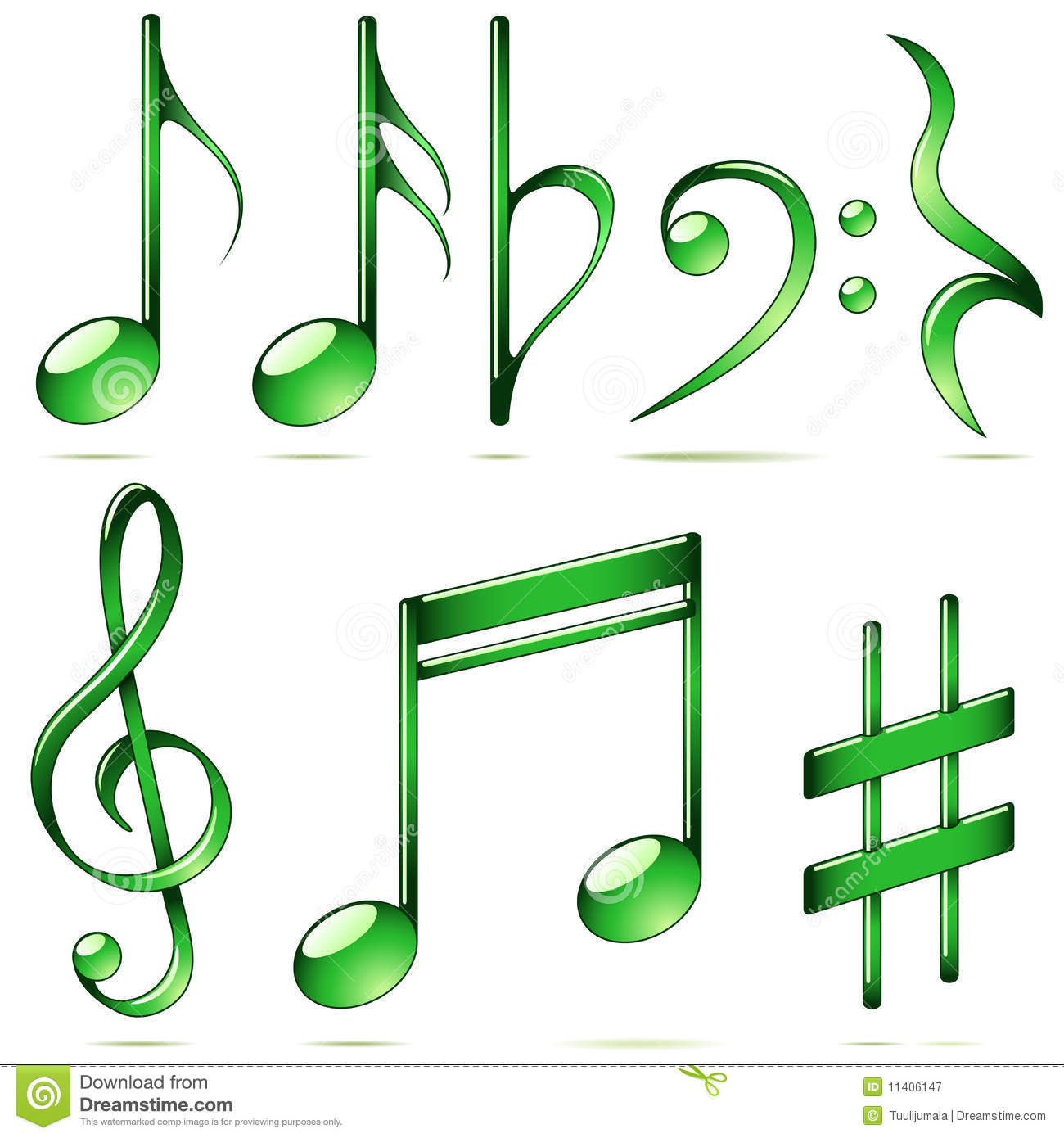 Music notes icons stock vector illustration of abstract 11406147 music notes icons buycottarizona Image collections