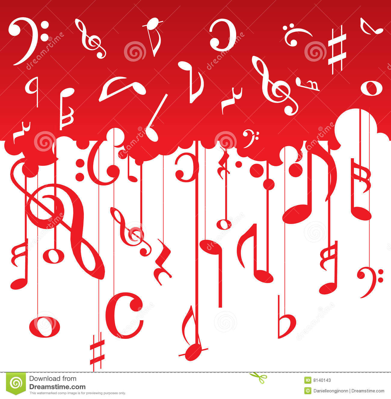 Music: Music Notes Pattern Stock Photos