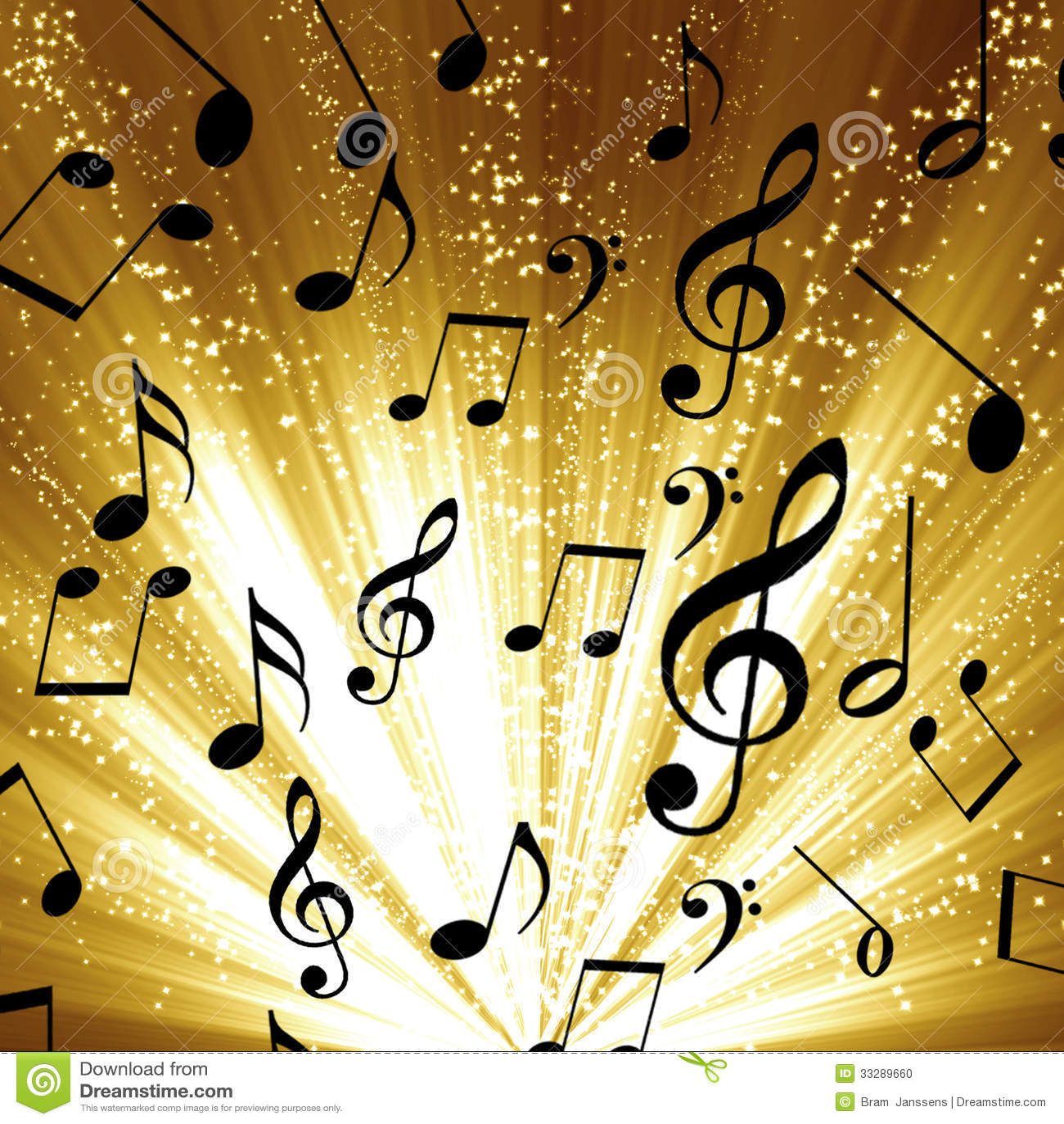 Music Notes Stock Photo Image 33289660
