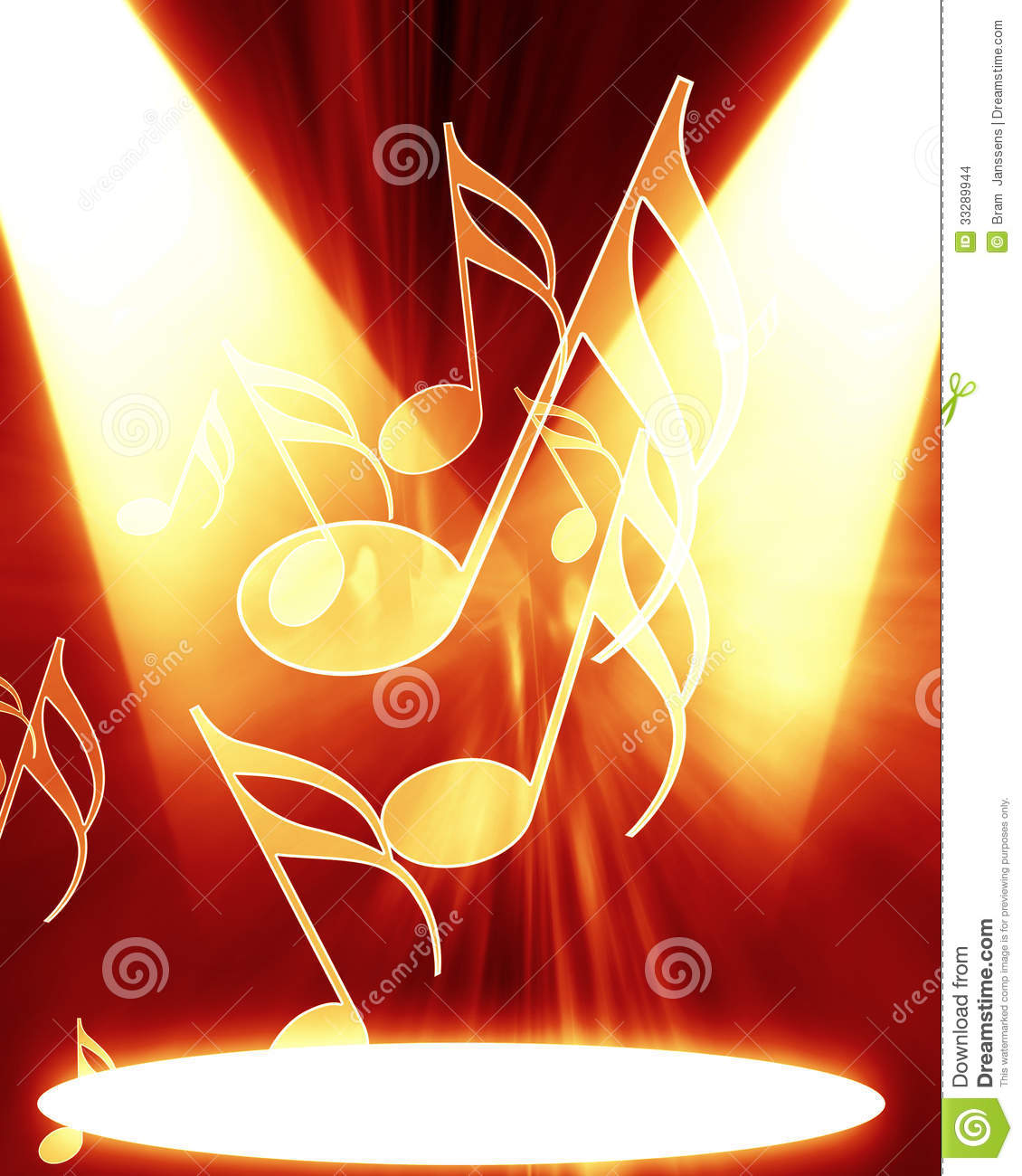 Music notes stock illustration. Illustration of party ...