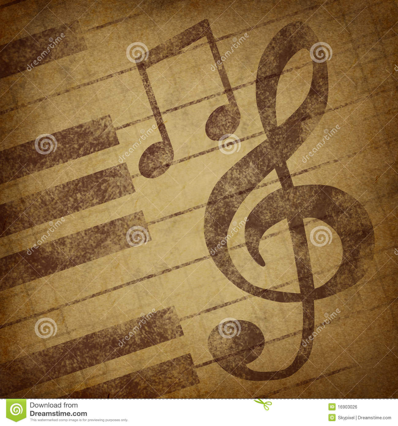 Grunge music notes stock vector illustration of icon 34098929 music notes symbol grunge vintage royalty free stock image biocorpaavc Image collections
