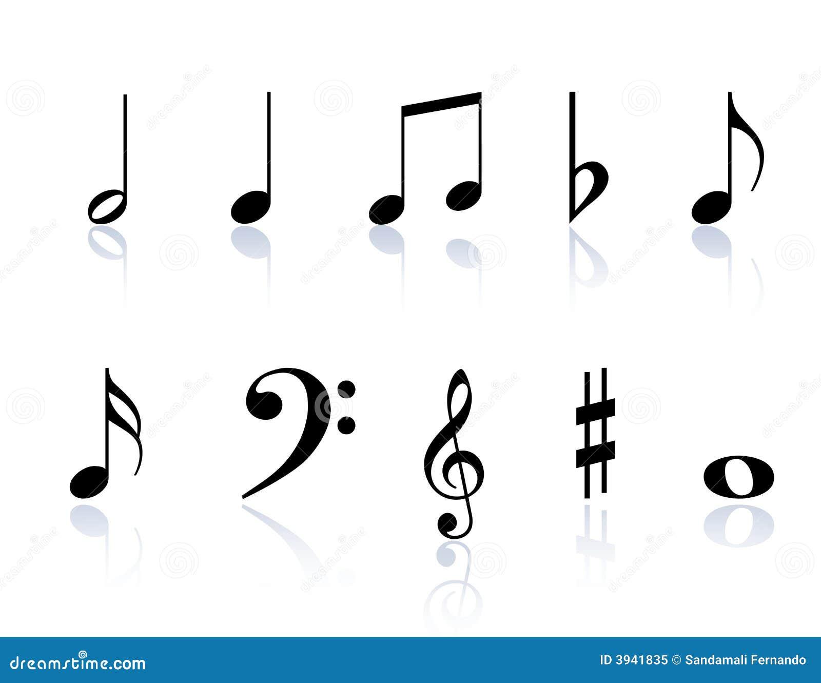 Music Notes Symbols Royalty Free Stock Photo Image 3941835