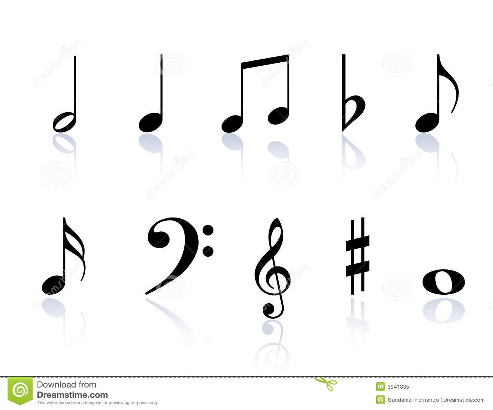 Music Notes Symbols Illustration 3941835 Megapixl