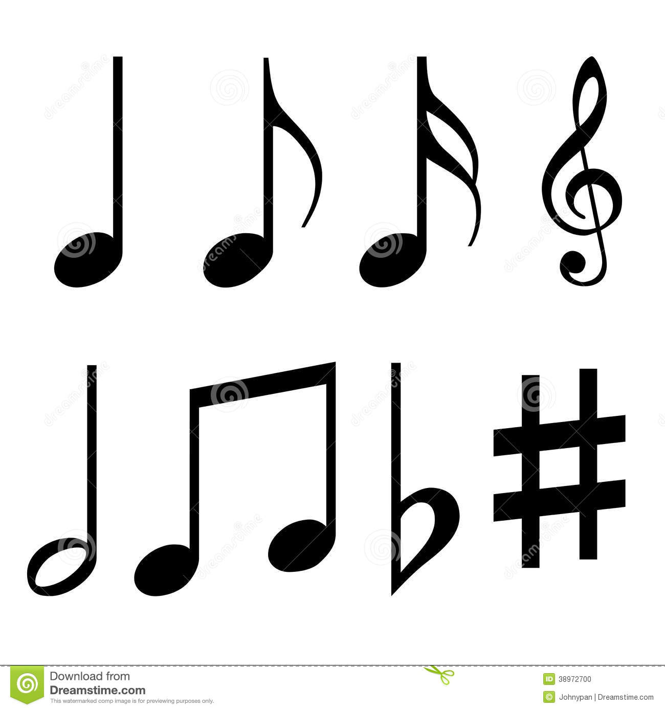 music notes symbols stock illustration image 38972700