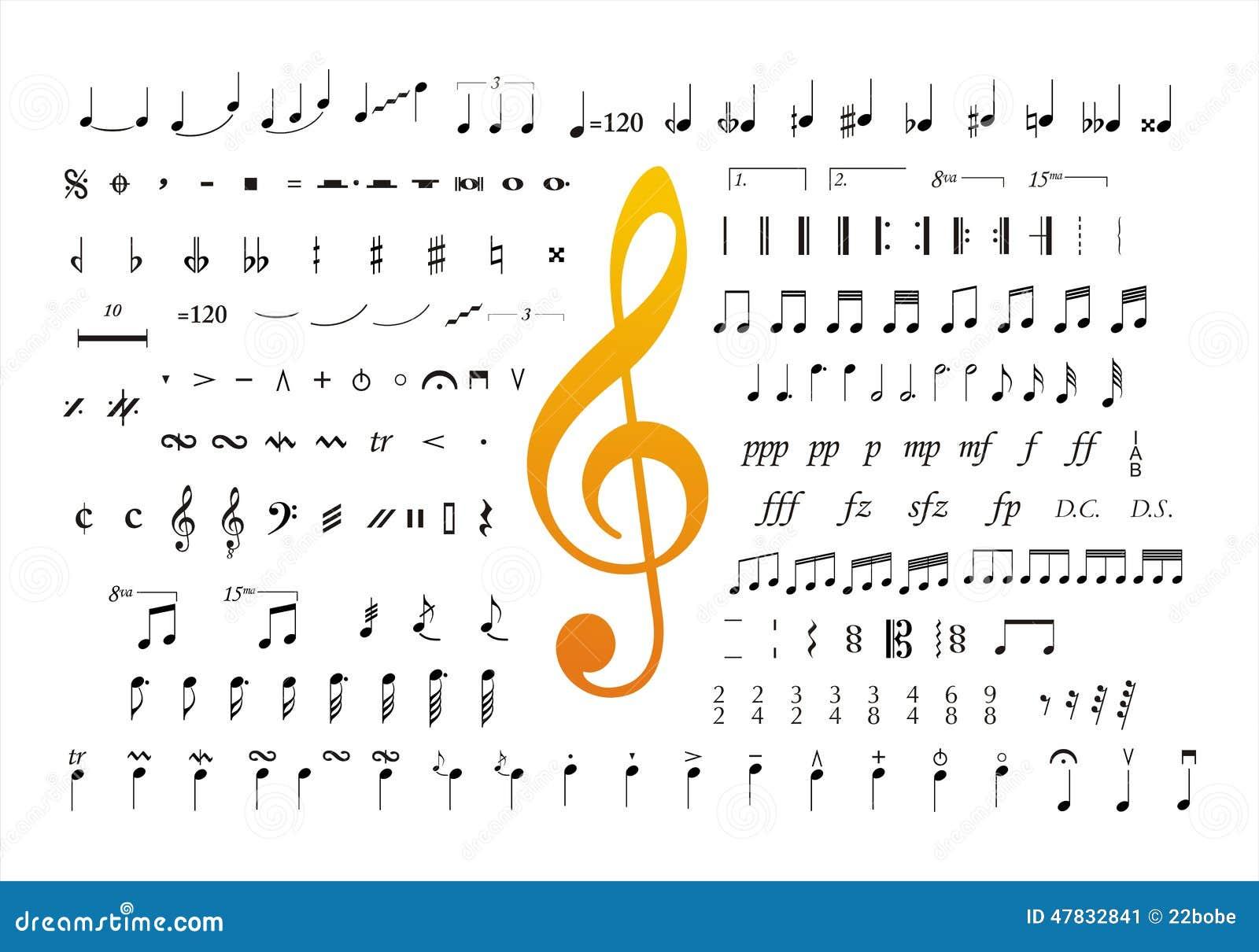 Music notes symbols 2