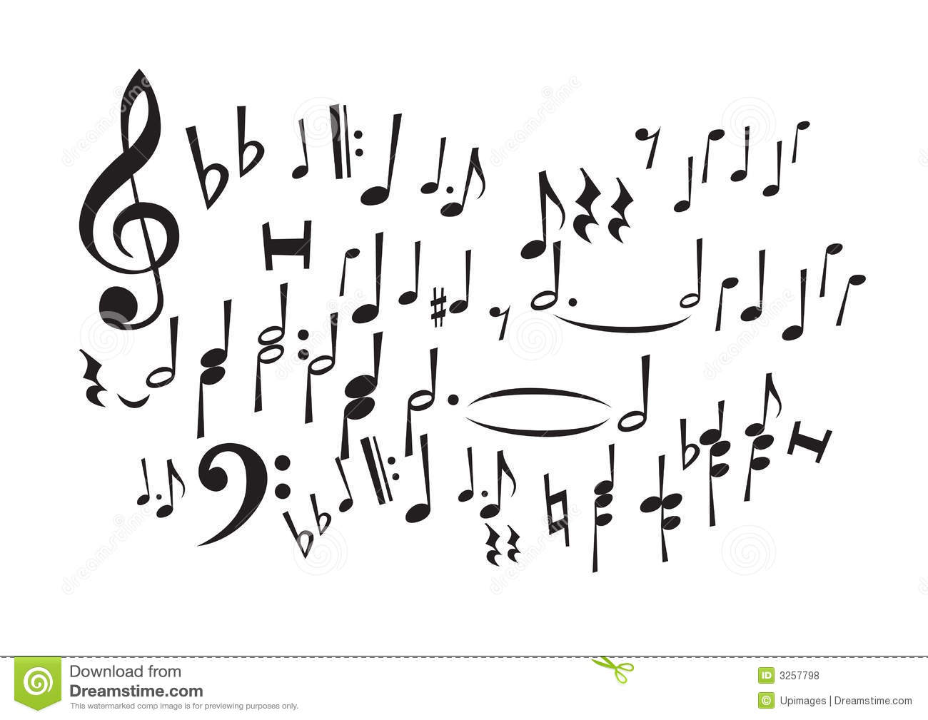 Music Notes Vector Stock Vector Illustration Of Conducting 3257798