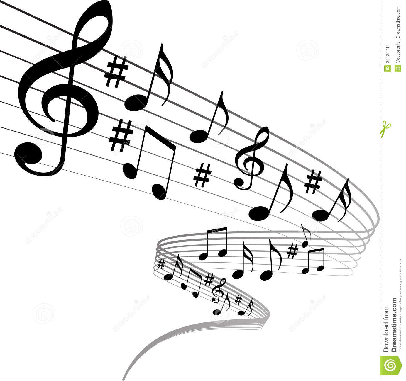 Music Notes Stock Vector - Image: 39130712