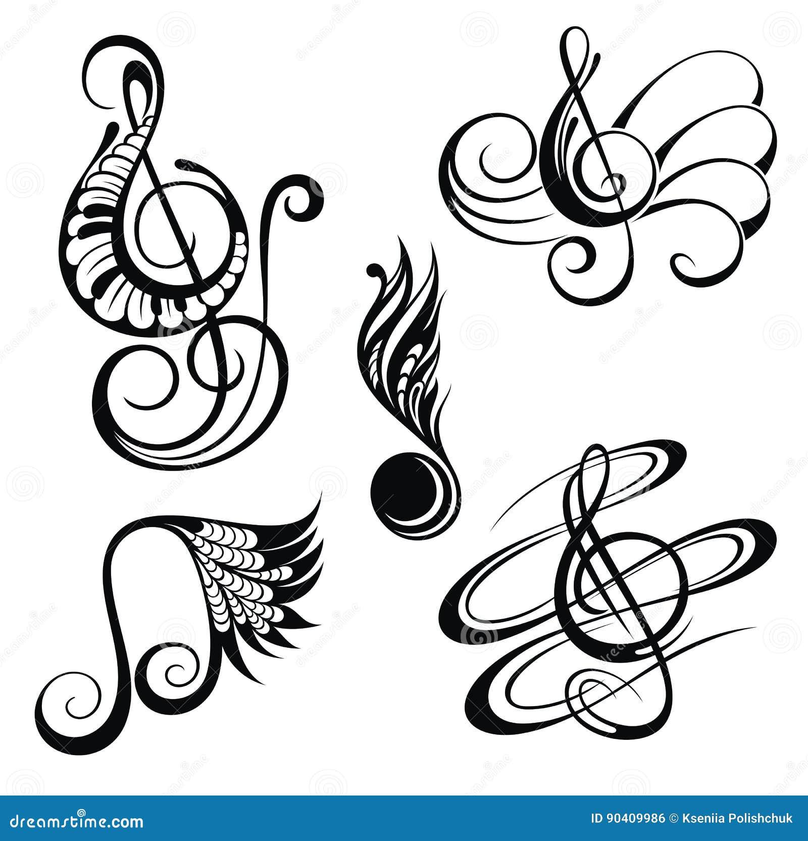Music notes. Vector illustration