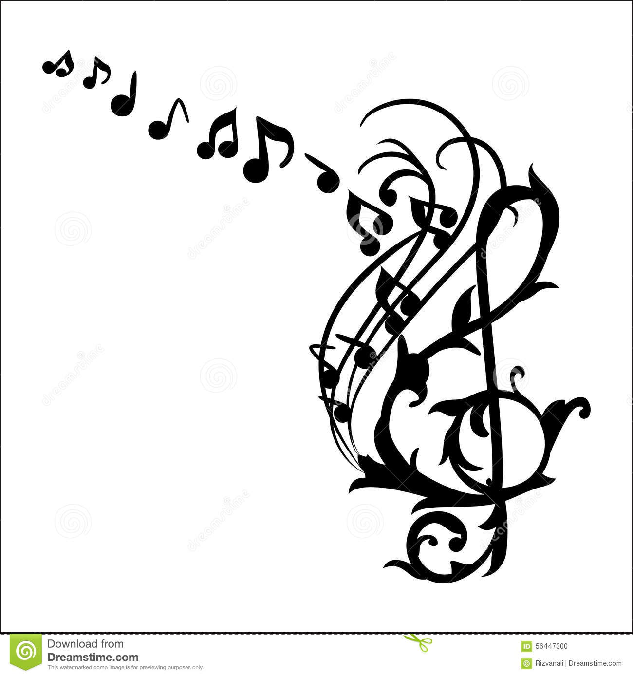 music notes wall decal vector illustration stock illustration decal design illustration music notes wall