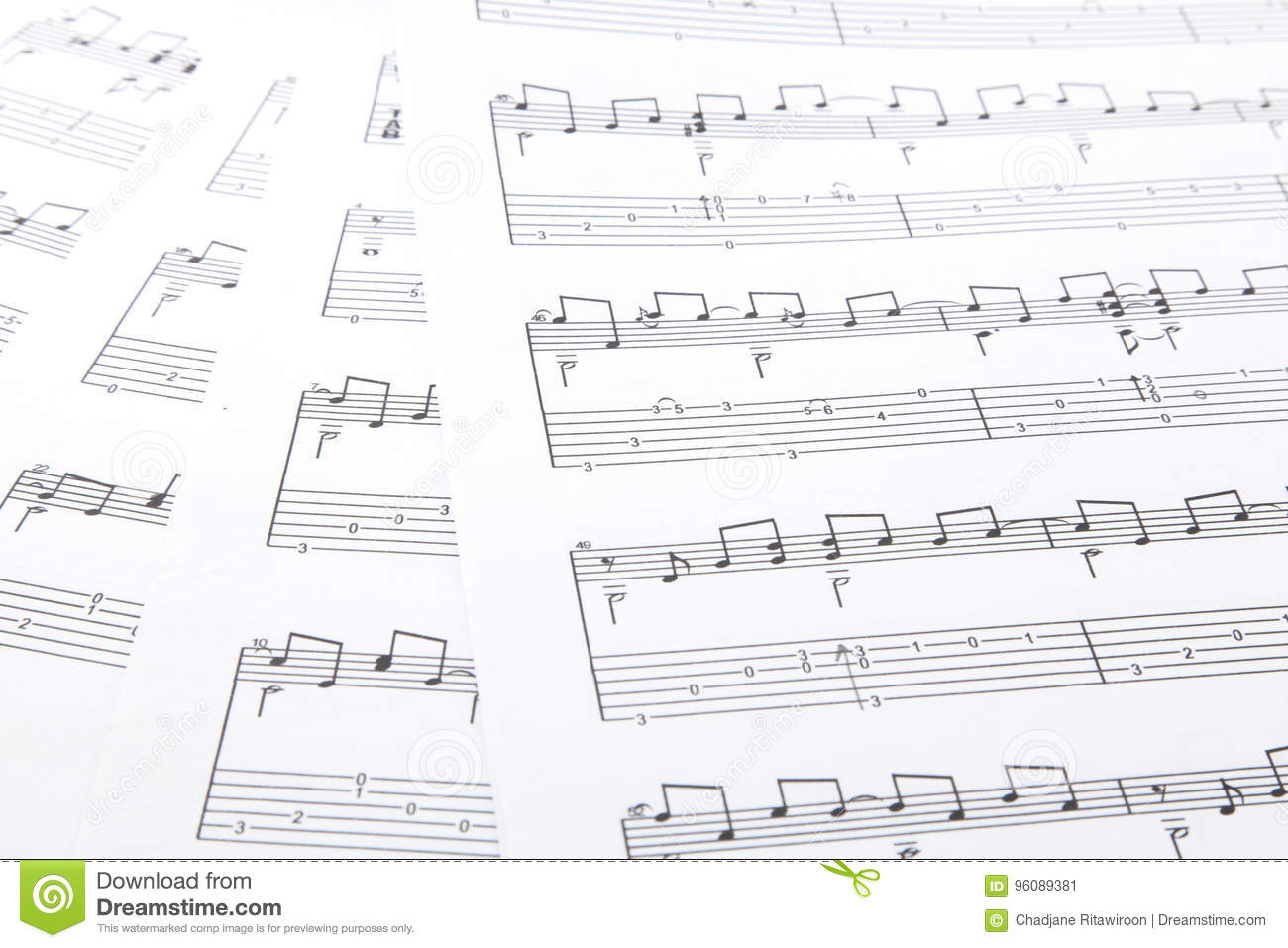 Music Notes Stock Image Image Of Cleff Lesson Band 96089381