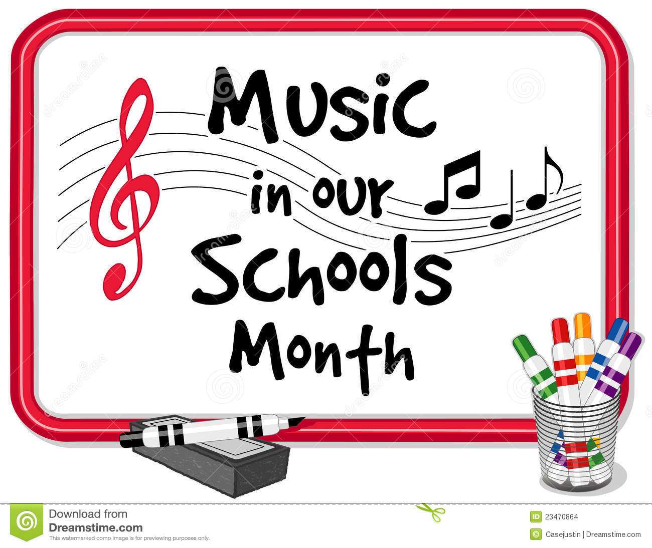 Music In Our Schools Month Whiteboard Stock Images - Image: 23470864