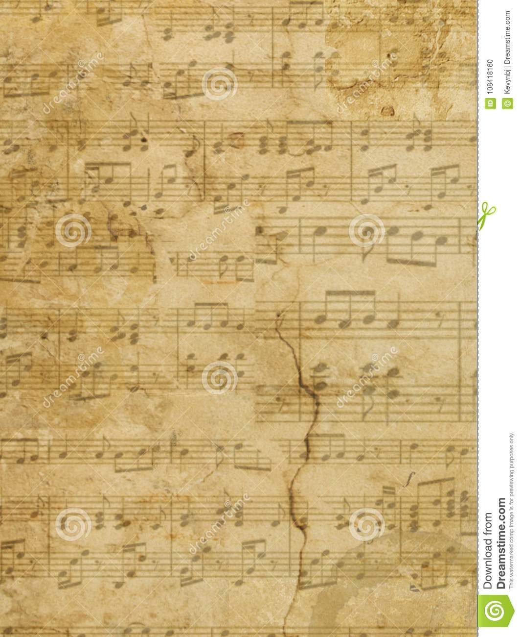 Download Music Parchment Paper Grunge Stock Photo