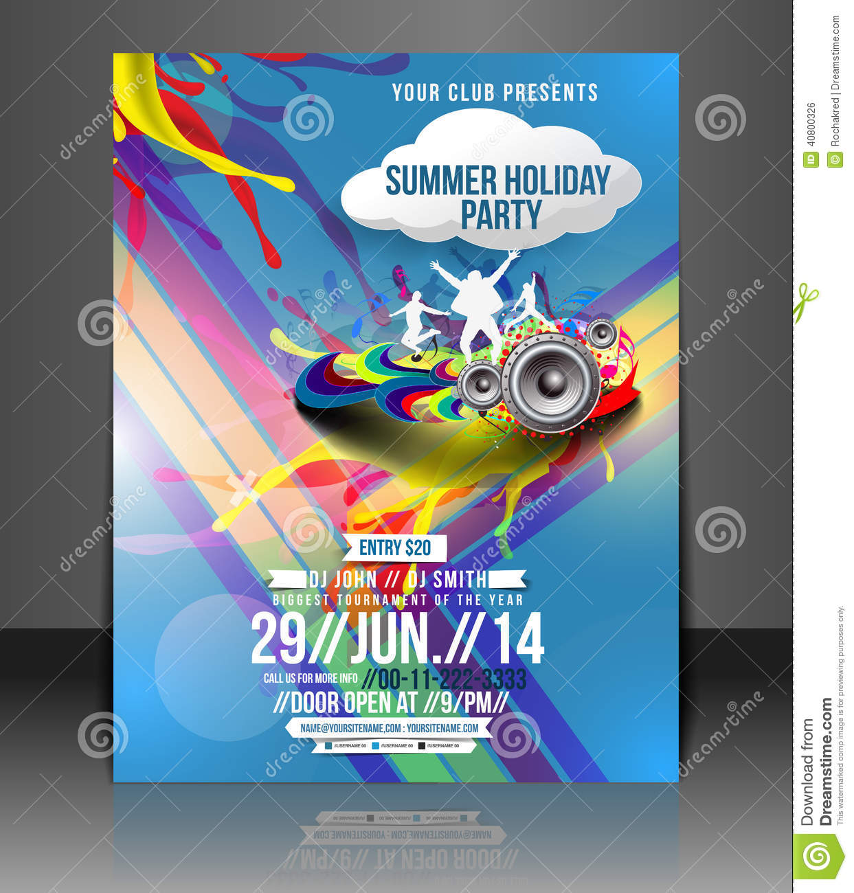music party flyer design stock vector illustration of eps10 40800326