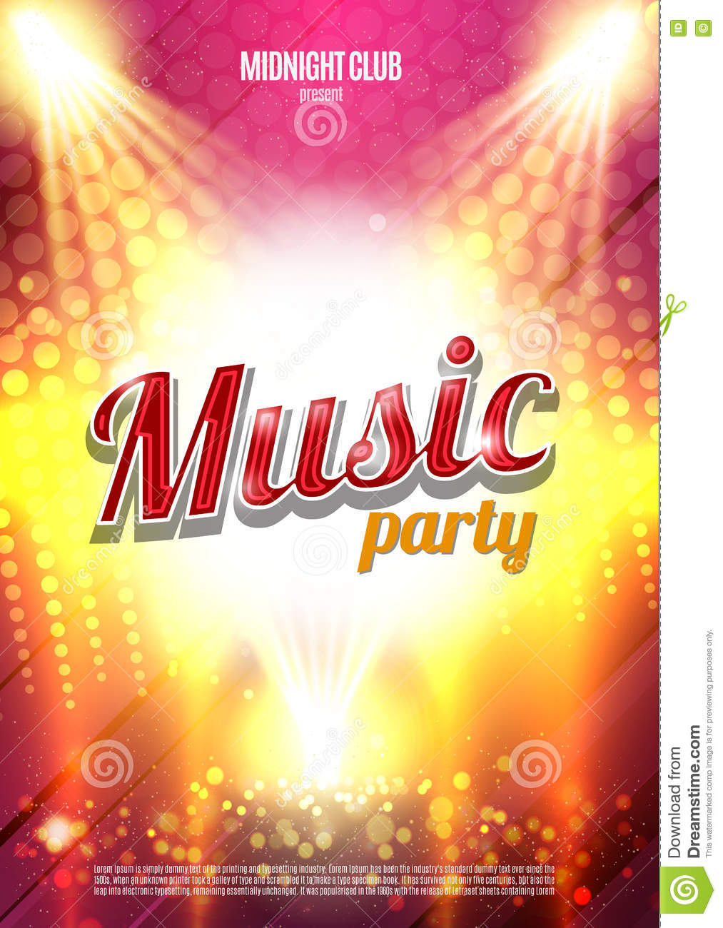 music party poster background template