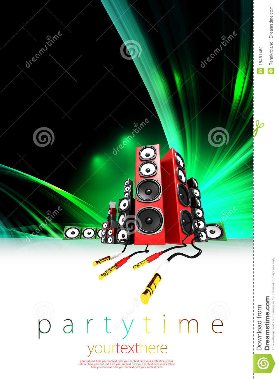music party poster template stock illustration illustration of