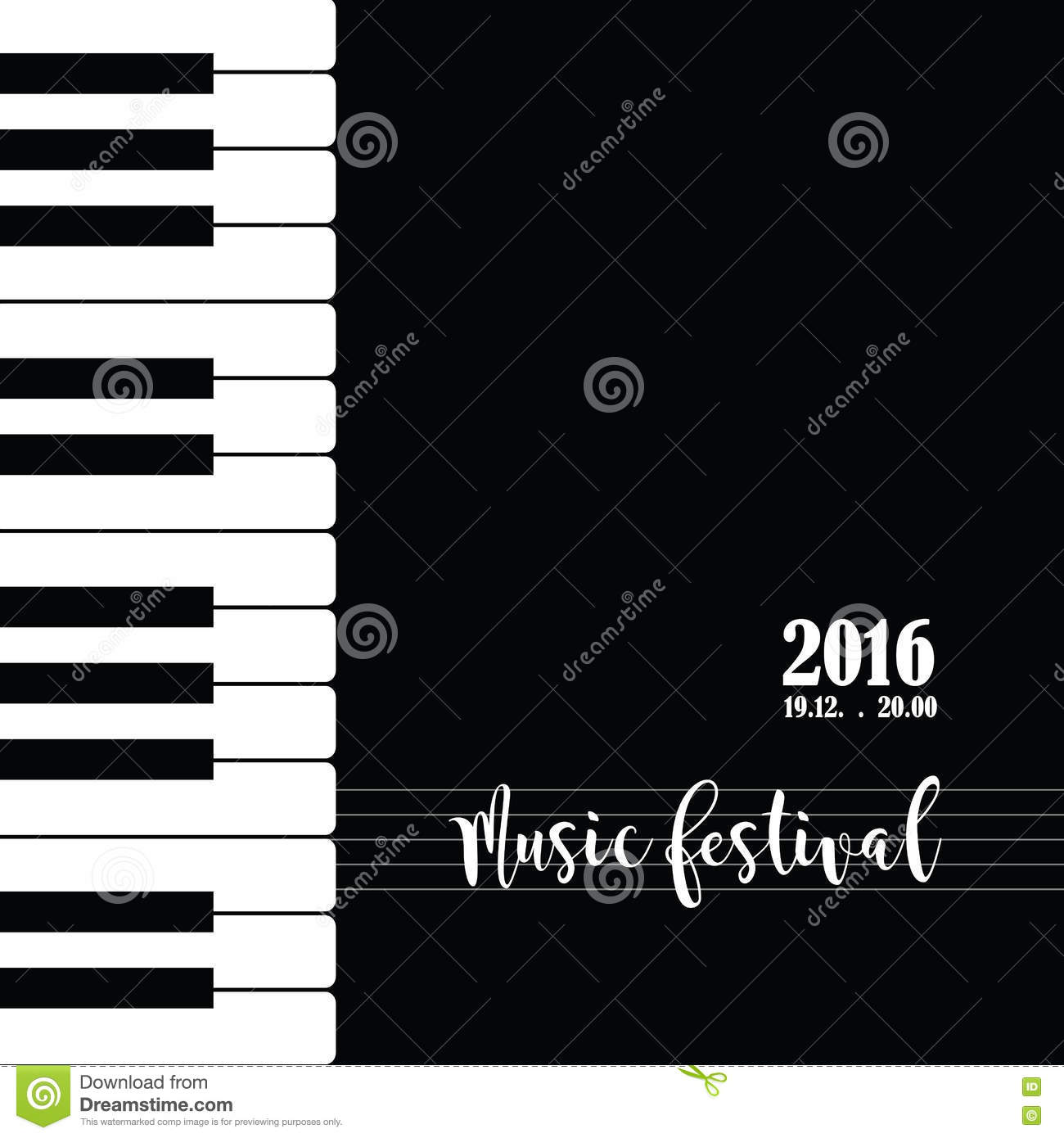 Music Piano Festival Poster Template. Stock Vector - Illustration of ...