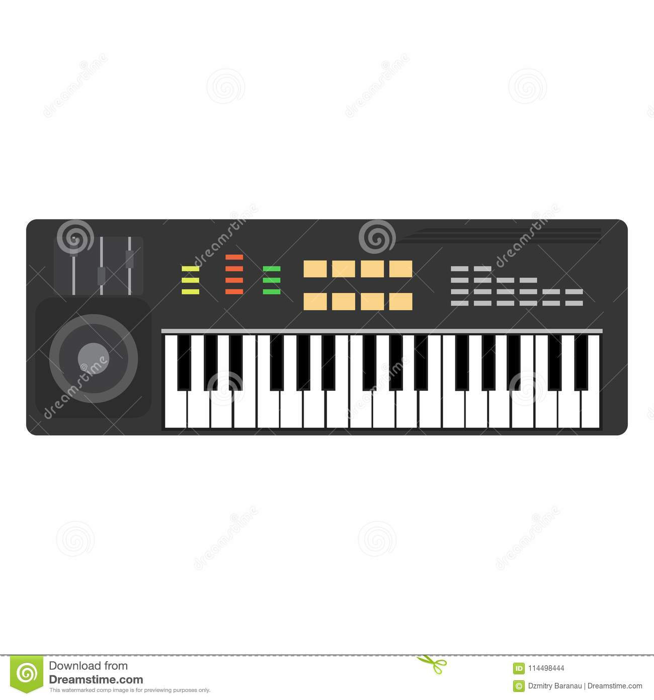 Music Piano Keyboard Vector  Background Musical Illustration