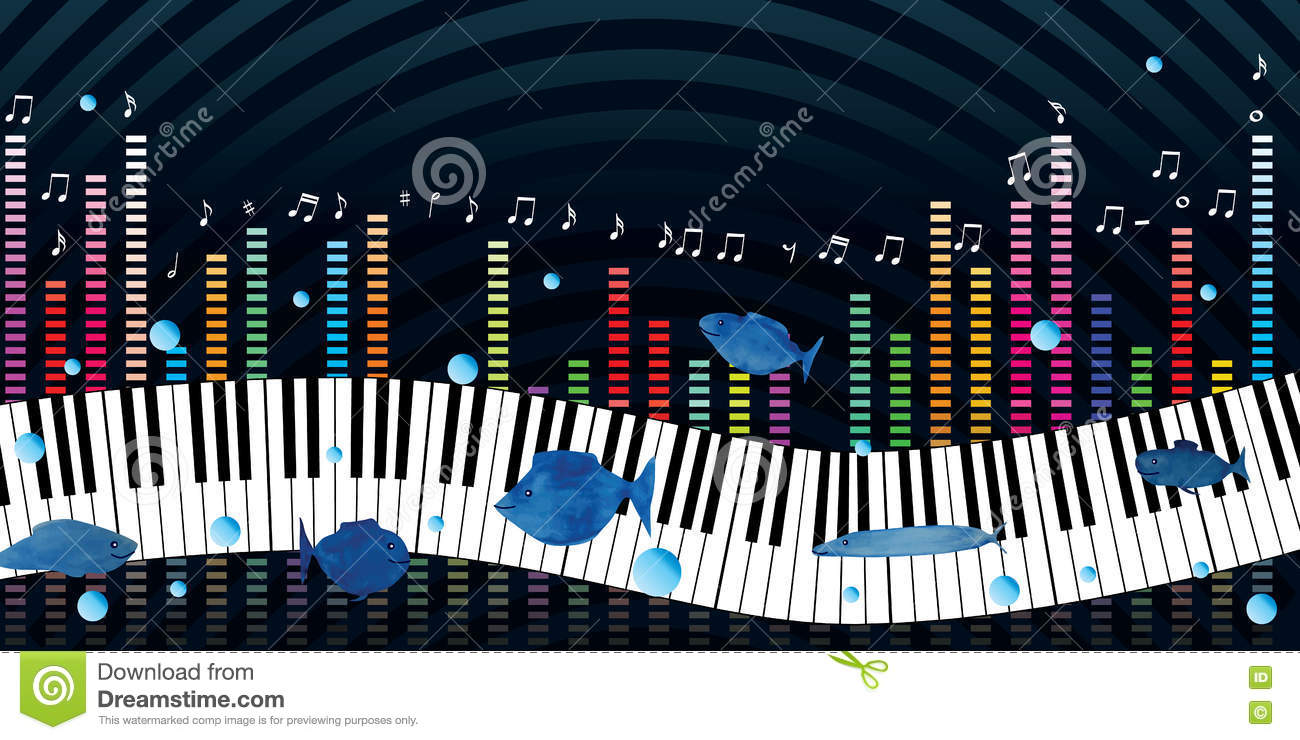 Music Piano Night Banner Stock Vector Illustration Of Blues 74139193