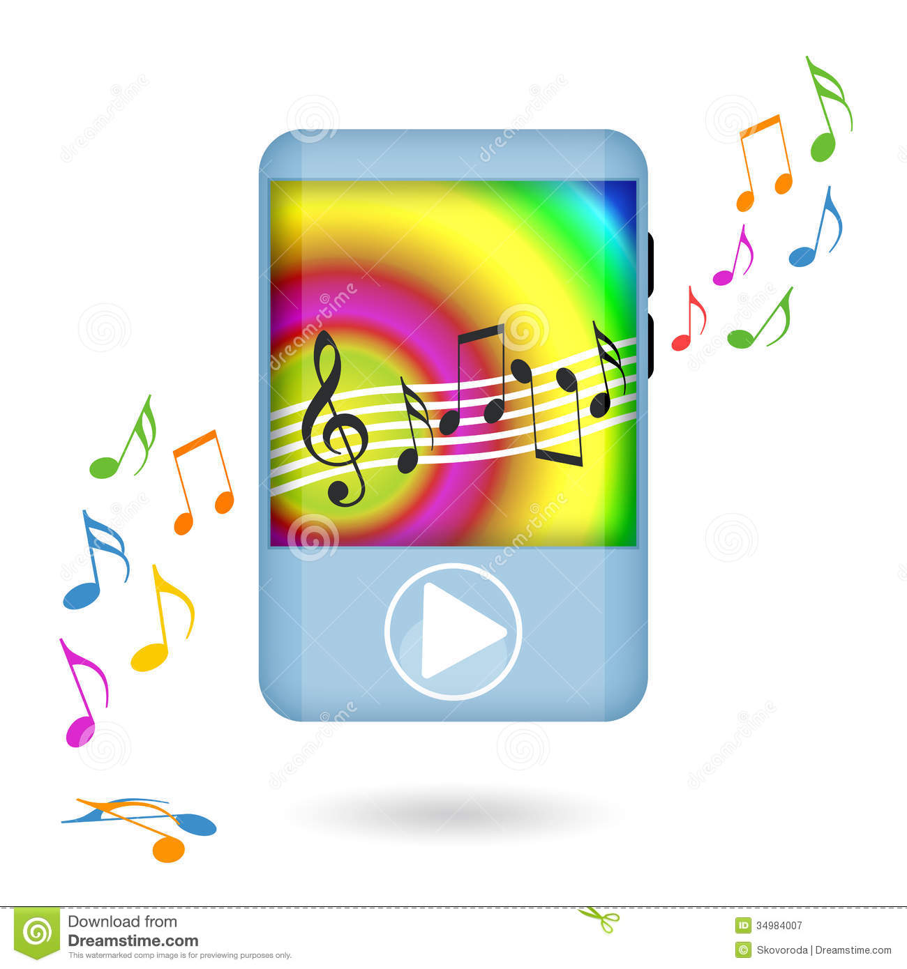Music Player Dancing Royalty Free Stock Photography ...