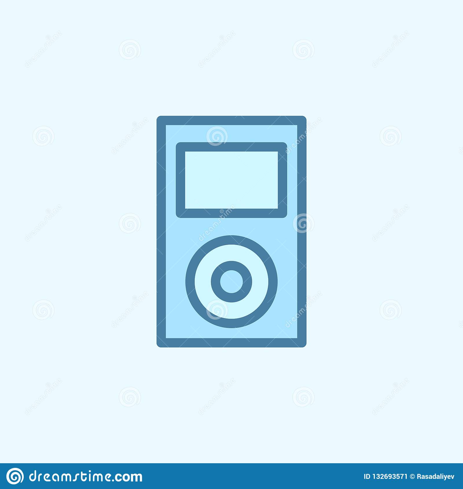 Music Player Field Outline Icon  Element Of 2 Color Simple Icon