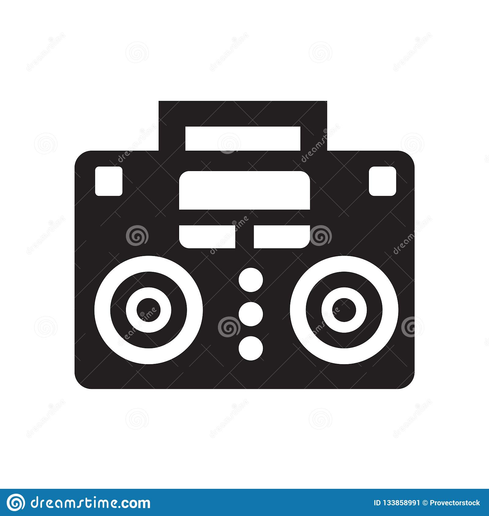 Music Player Icon Isolated On White Background Stock Vector