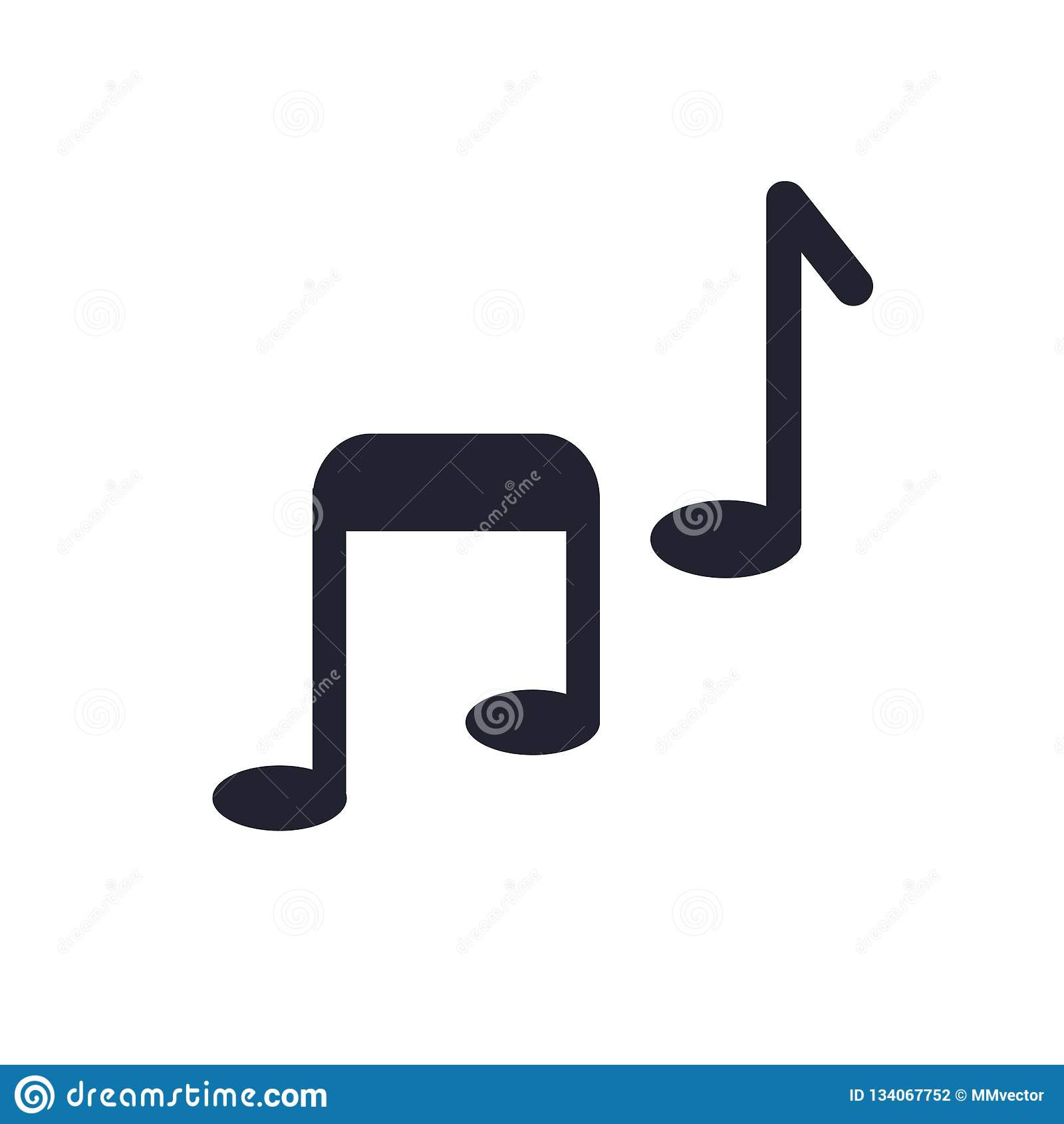 Music Player Icon Vector Sign And Symbol Isolated On White