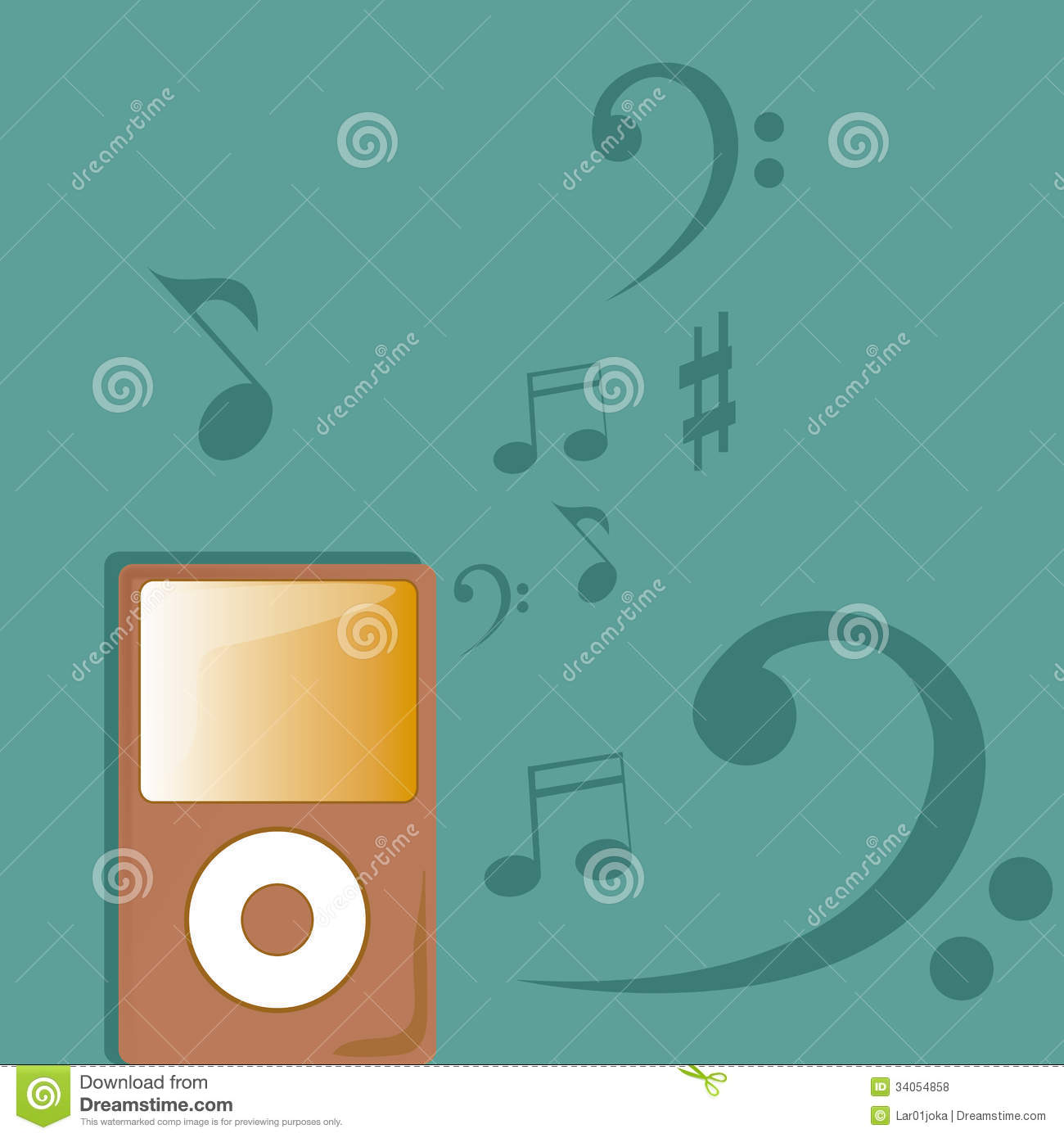 Music Player Royalty Free Stock Photos - Image: 34054858