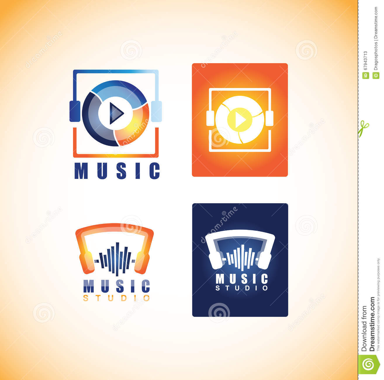 Music Player Studio Logo Icon Stock Vector - Illustration of