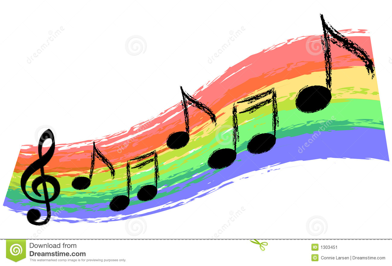 Black And White Themed Bedroom Music Rainbow Stock Illustration Illustration Of Lines