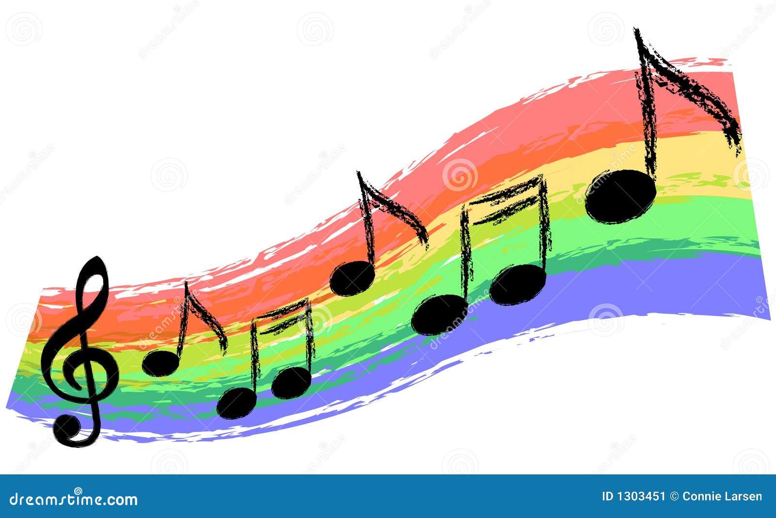 Music Rainbow Stock Image Image 1303451