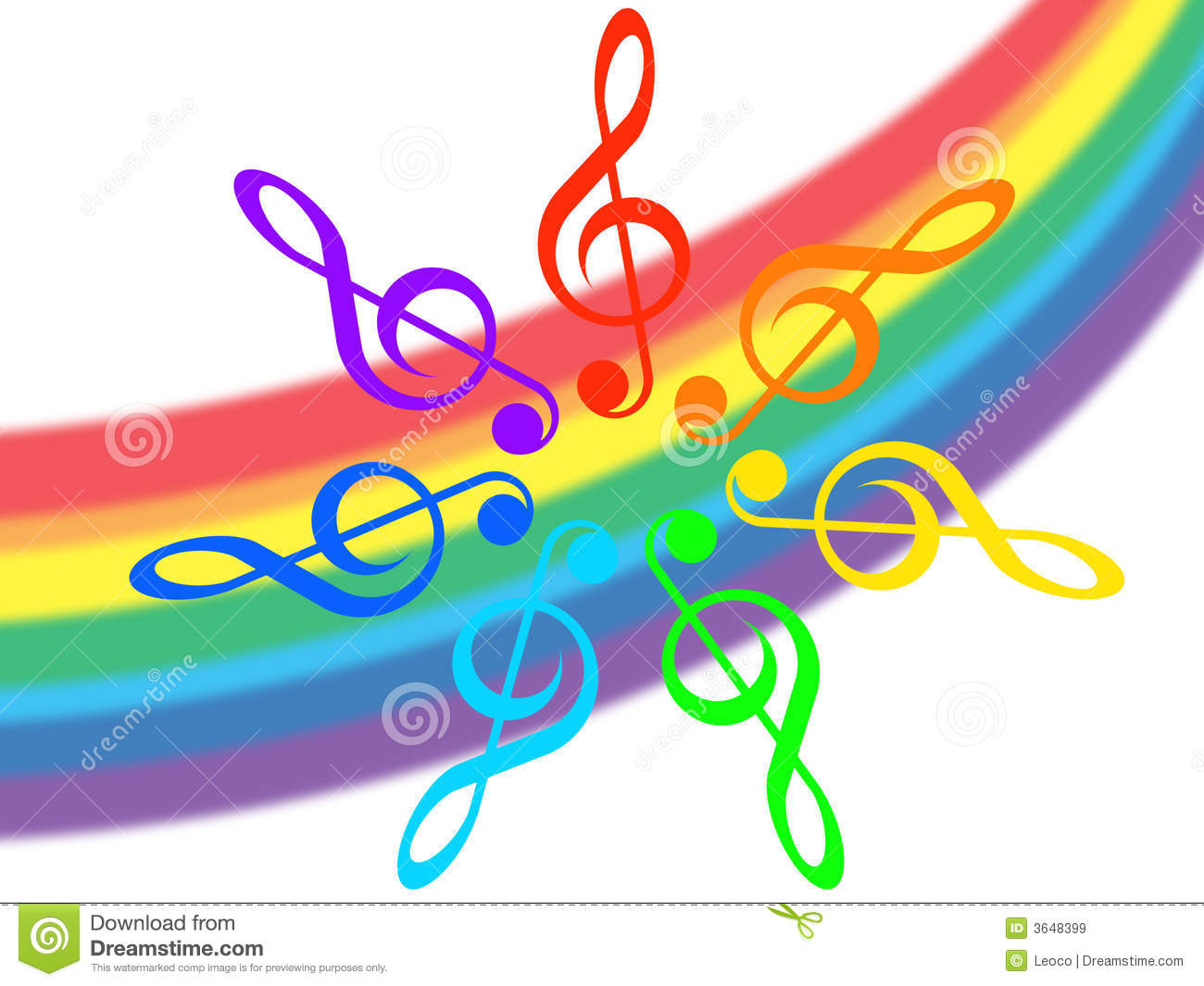 Rainbow Music Stock Images: Music And Rainbow Royalty Free Stock Images