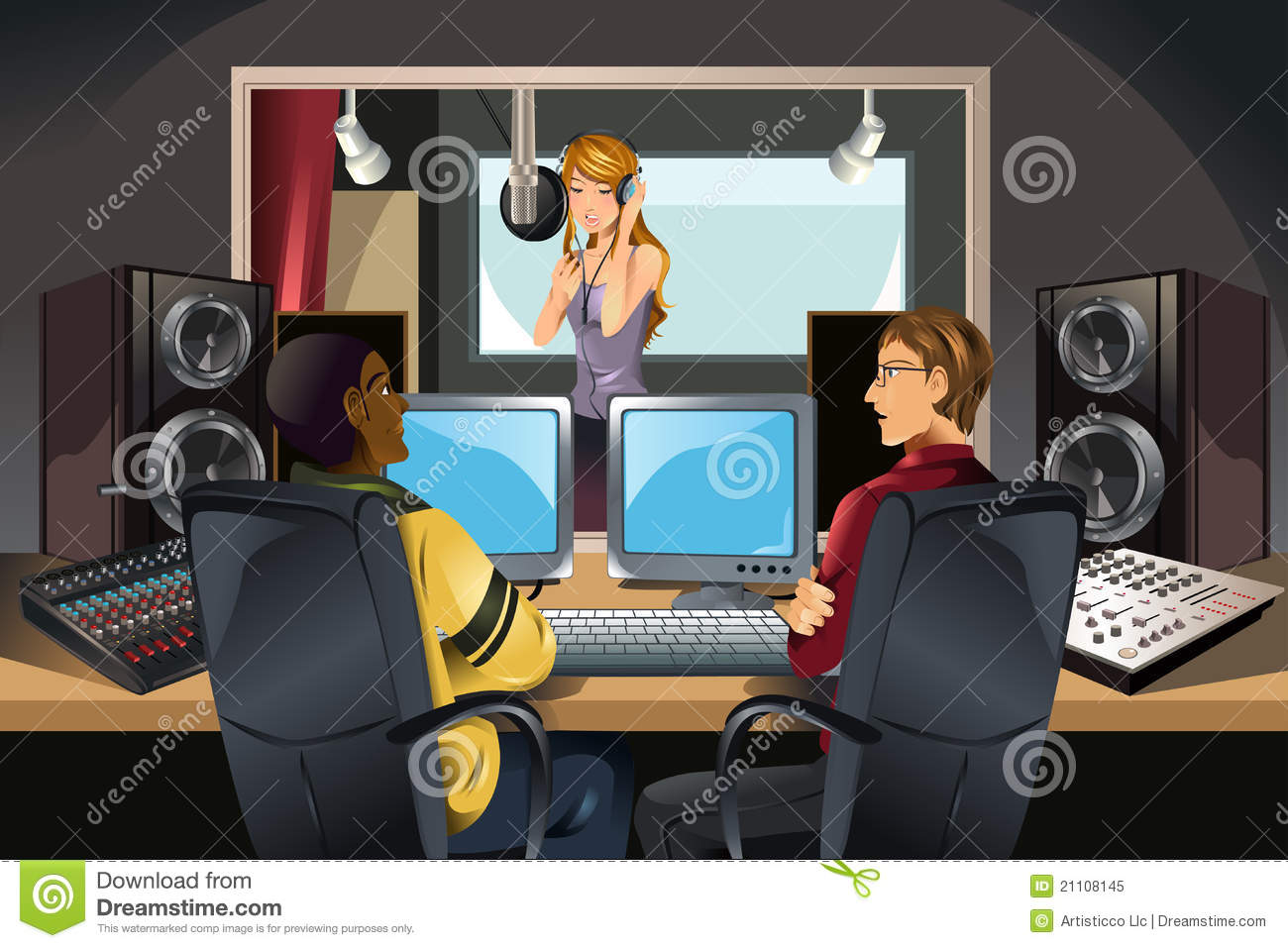 Music Recording Studio Royalty Free Stock Photo Image