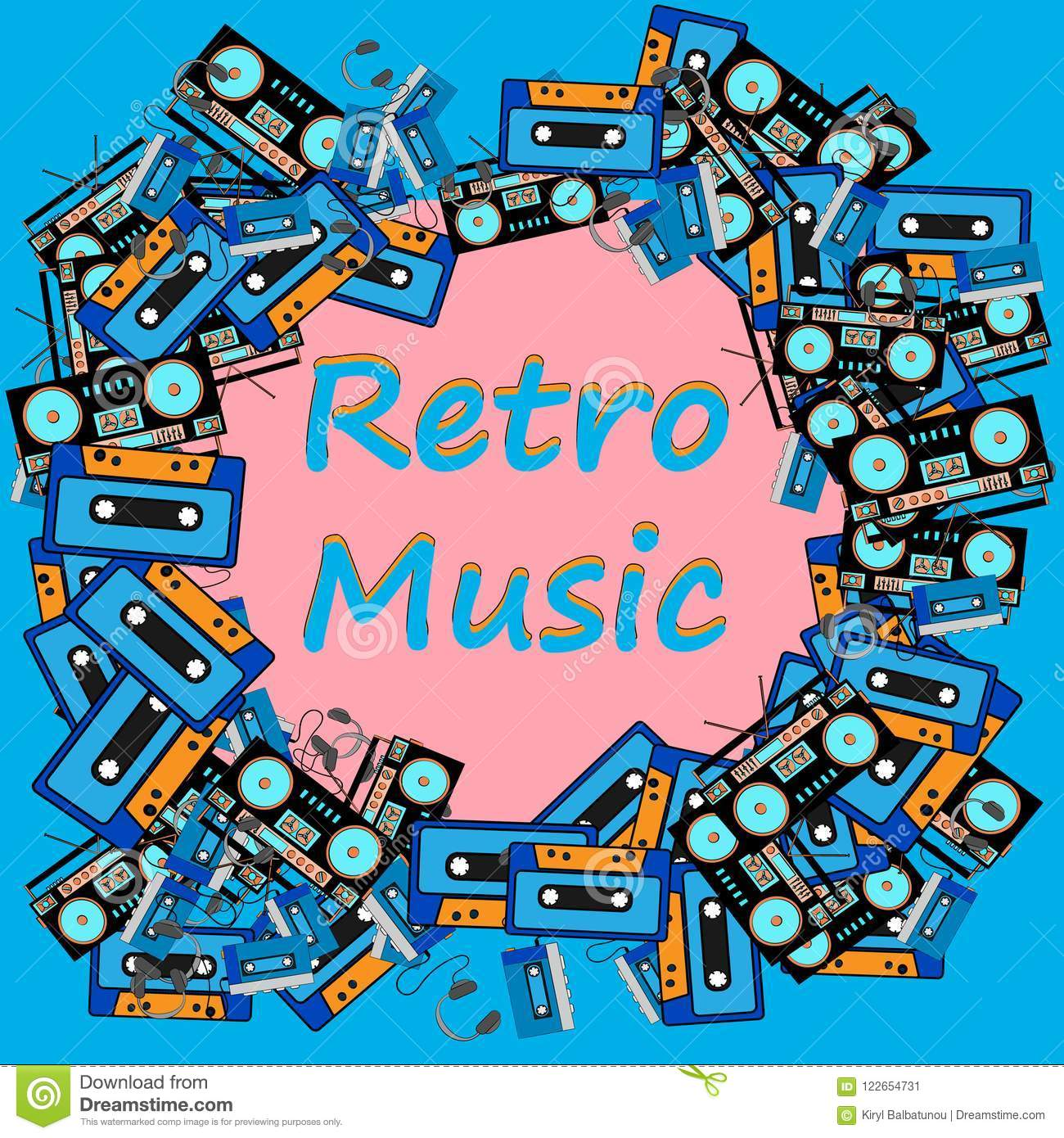 Music Retro Background Vector Vintage Design Poster Frame