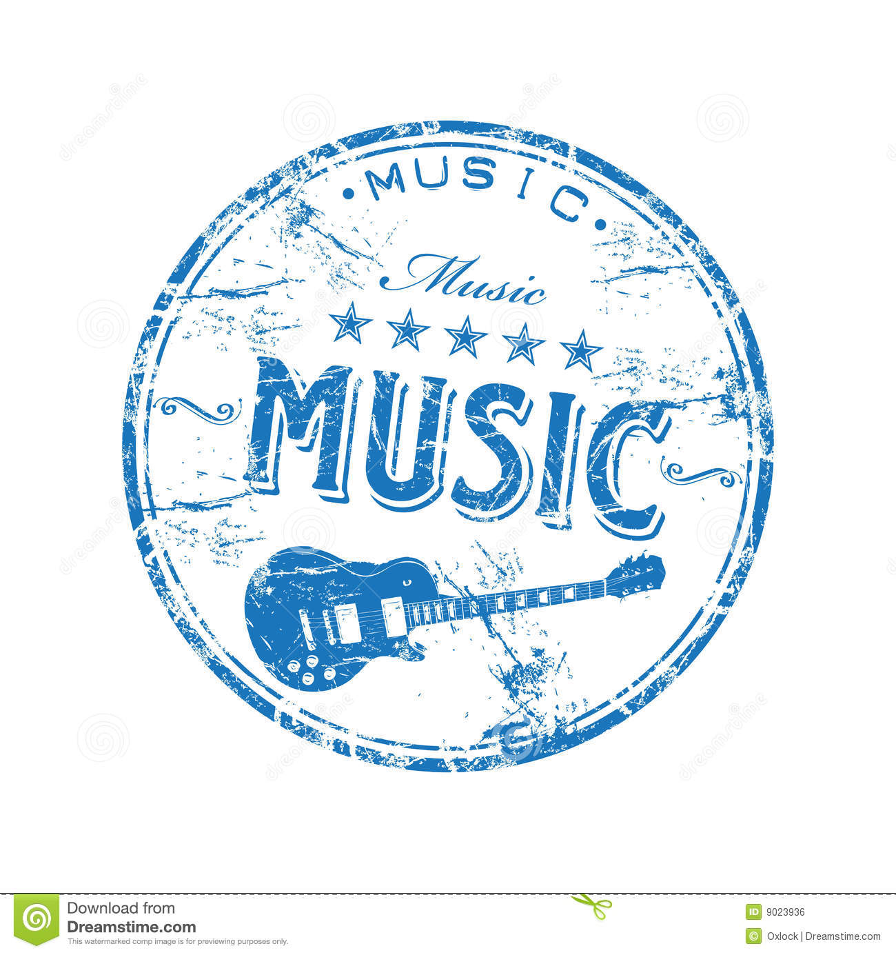Music rubber stamp