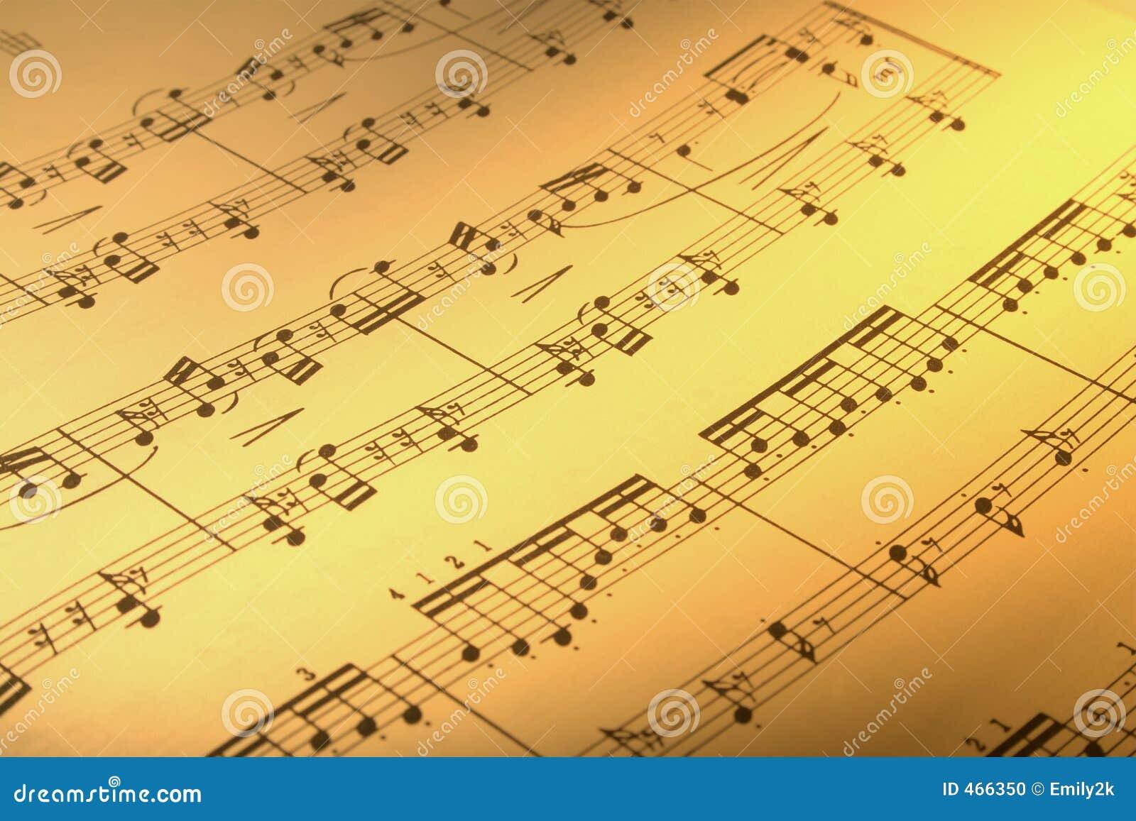 Music score stock photo  Image of muzak, clef, closeup - 466350