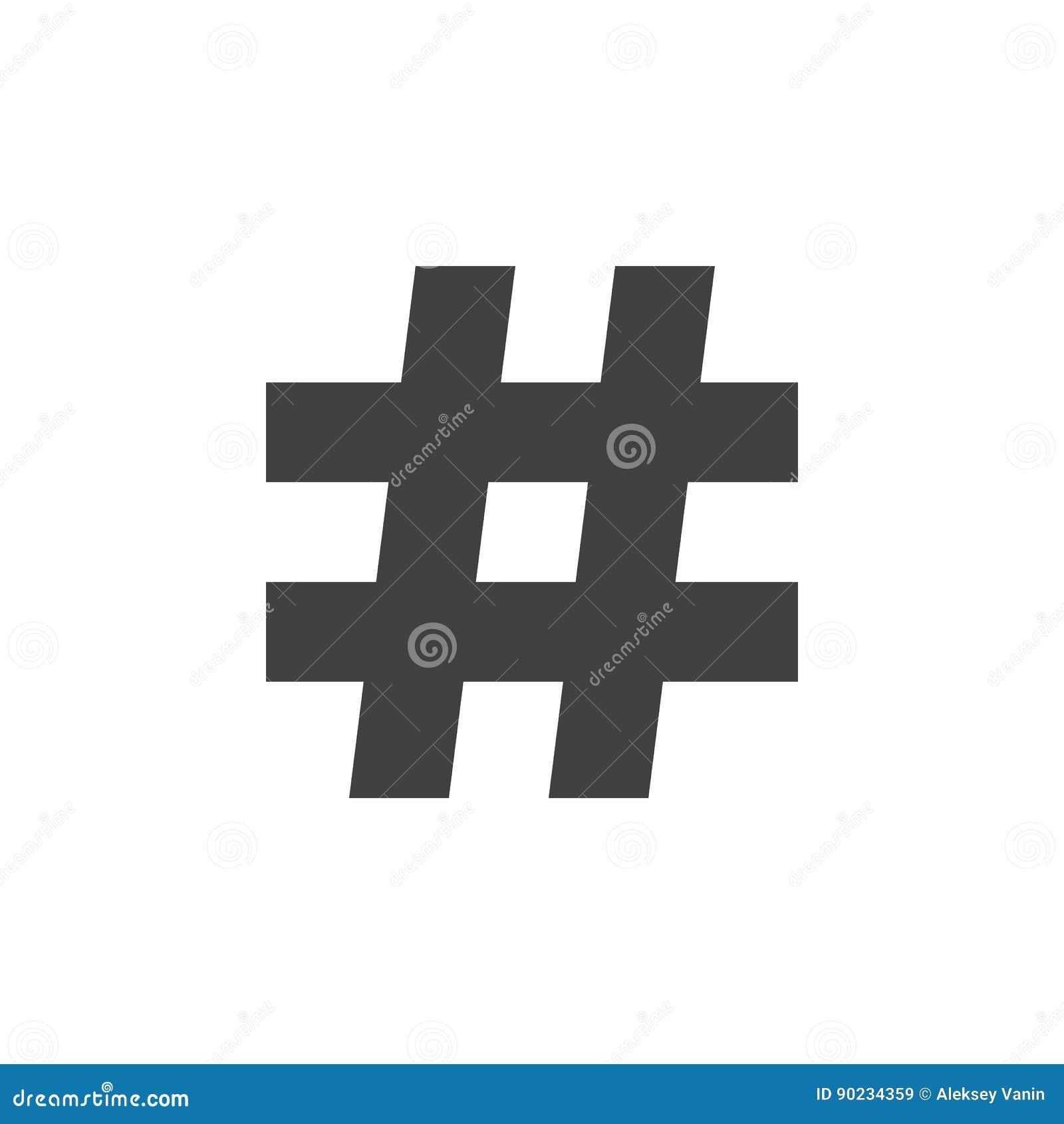 Music Sharp Sign Hashtag Icon Solid Logo Illustration Stock
