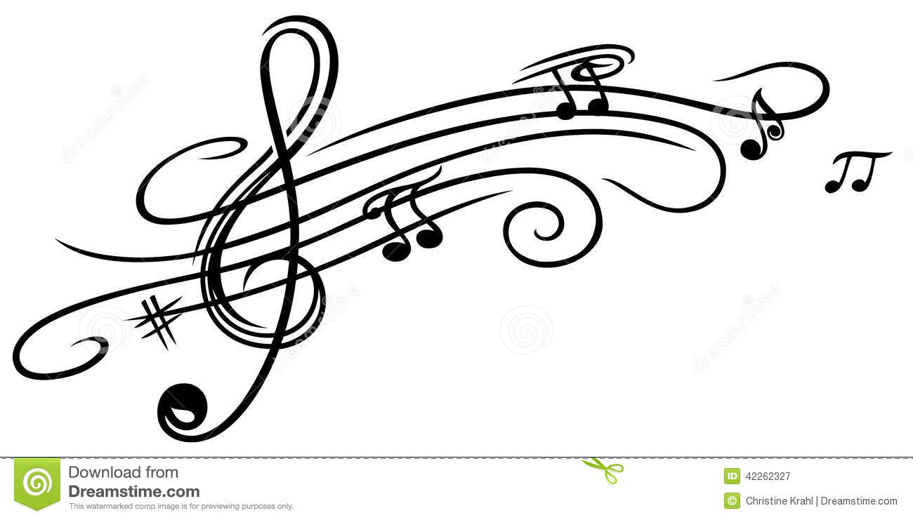 music sheet, clef stock vector. illustration of clef