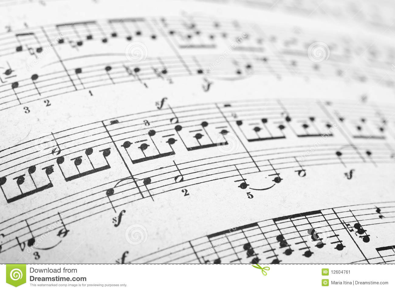 music sheets pages stock image
